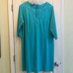 Talbots Ponte blue dress 18w